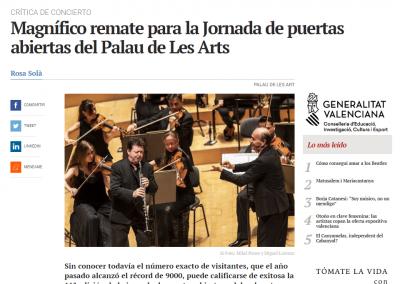 Magnífico remate para la Jornada de puertas abiertas del Palau de Les Arts